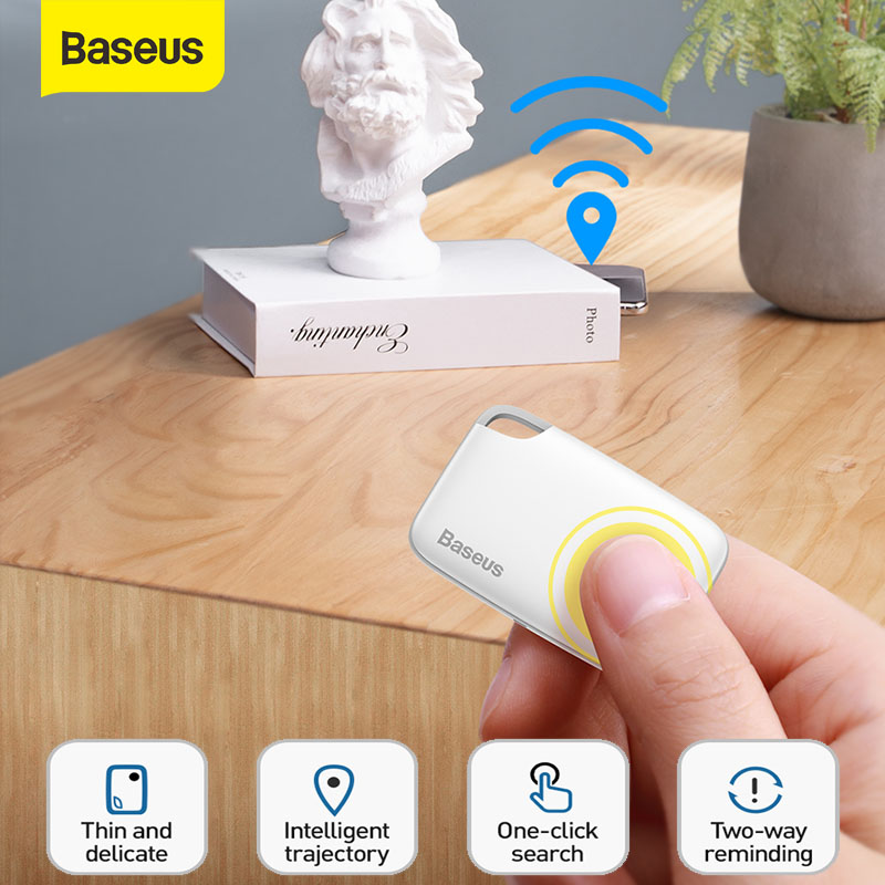 Baseus Mini Smart Anti Lost Tracker Bluetooth GPS Tracker For Key Finder Child Alarm Wallet Finder Smart Tag Key Finder Locator