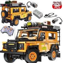 2126 sztuk high-tech Expert żółta prędkość Off-Road Sport samochodowe klocki budowlane Model statyczny cegły zabawki prezent świąteczny dla chłopaka