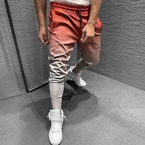 Image 4 - Pantalones de chándal con gradiente para hombre, ropa deportiva, culturismo, otoño