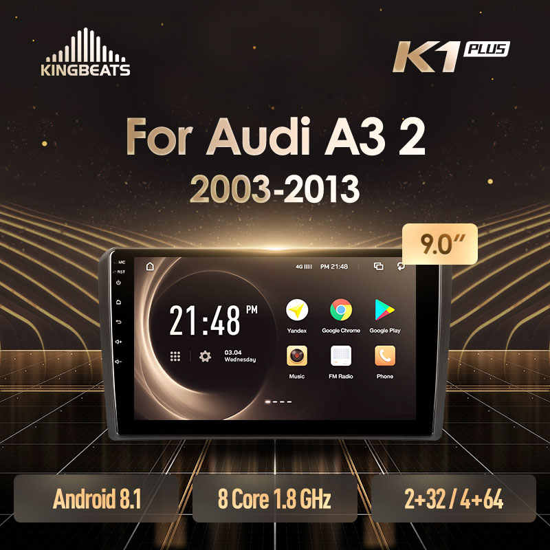 Kingbeats 8.1 Head Unit 4G Di Dash Mobil Radio Pemutar Video Multimedia Gps Navigasi untuk Audi A3 2 8P 2003 - 2013 S3 RS3