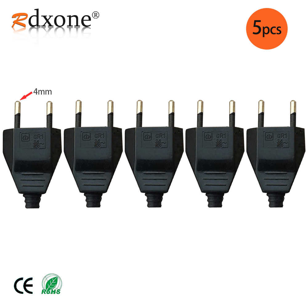 4.0mm EU mâle femelle bout à bout VDE cordon d'alimentation prise prise de courant europe EU prise luminaire 2 core prise de connexion