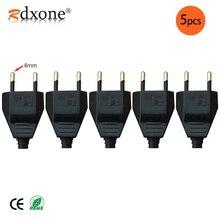 Cable de corriente de enchufe VDE Enchufe europeo macho y hembra de 4,0mm, enchufe europeo, accesorio de luz de 2 núcleos