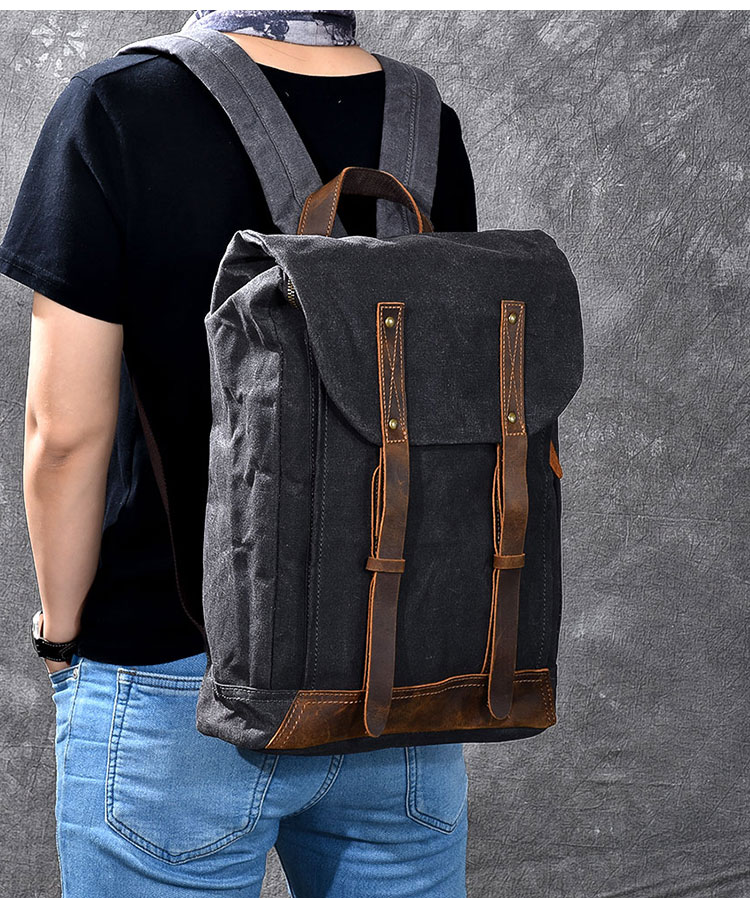óleo bolsa de ombro retro afligido mochila