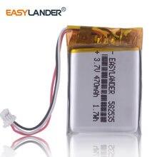 10 sztuk/partia 582535 3.7V 470mAh litowo polimerowa bateria do dash cam Game Player mysz rejestrator ruchu headephone 602535
