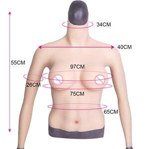 Image 3 - Tgirlシリコーン胸フォームbody乳房切除dカップhalfbodyシリコーンprosthesiアーム