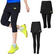 Girls Tennis skort Fake Two pieces Women badminton Skirt legging sport Skorts Female badminton skirts tennis Short Pants M-3XL