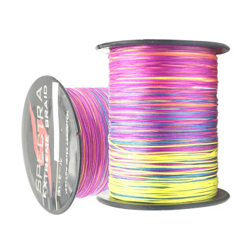 100M 300M 500M 1000M Multicolor Fishing Line 12 Strands PE Braided Wire Multifilament Weaving Net Fishing Line For Saltwater 300m braided fishing line 4 strands pe line multifilament saltwater freshwater 12 80lb smooth floating wire