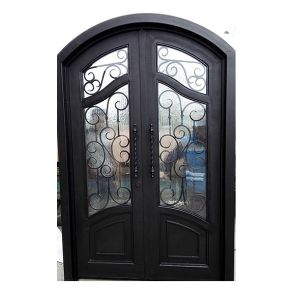 Shanghai Hench Brand China Factory 100% Custom Made Sale Australia Iron And Glass Front Door