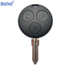 OkeyTech замена ключа автомобиля для Mercedes Benz SMART Fortwo 450 Forfour Roadster чехол с 3 кнопками с пустым лезвием