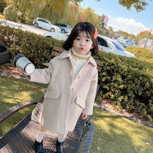 Girls Coat Material Temperament Clip Cotton Thick Coat Top 2019 Winter Clothing New Foreign Trade Children's Clothing Hair(China)