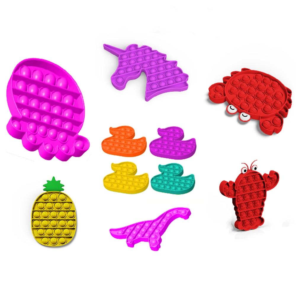 Push Pop Bubble Fidget Toys Anti-stress Fidget Stress Toy Figet Toy PopIt Fidget Stress Decompression Toys