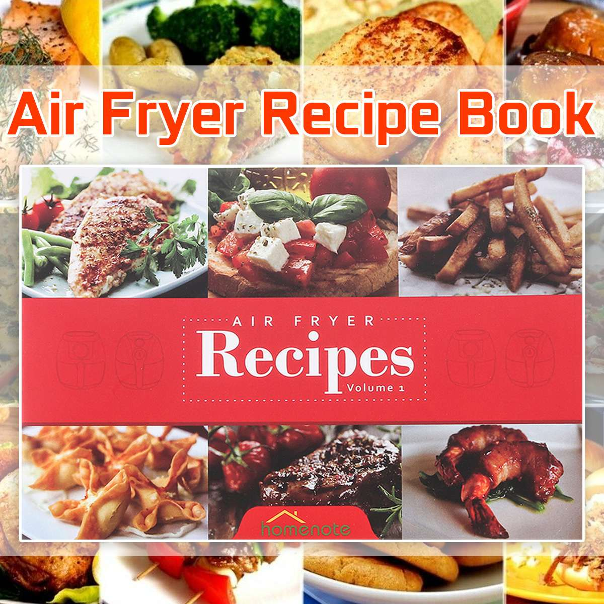 Color Printing Air Fryer Cookbook : Air Fryer Recipe Book Recipe Book With 15 Delicious Meals English Language Cookbook