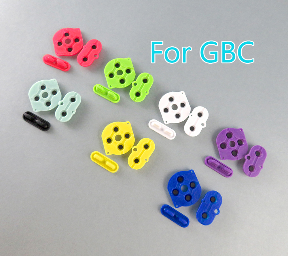 5sets Colors rubber conductive button A-B d-pad for Game Boy Color GBC shell housing silicon start select keypad(China)