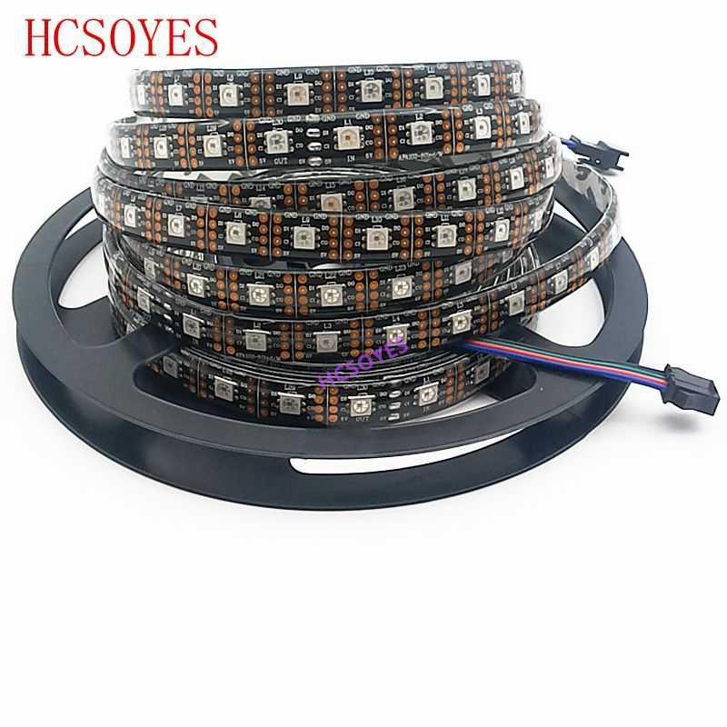 APA102 полоса 1 m/3m/5 m 30/60/72/96/144 светодиодов/пикселей/м APA102 умные светодиодные полосы пикселей данных и часы отдельно DC5V IP30/IP65/IP67