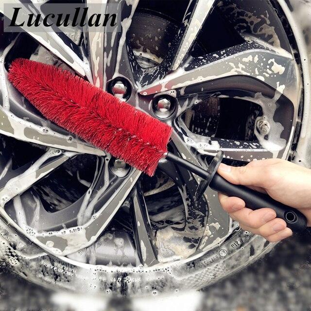 "Lucullan 17 ""車のリムホイールスポークエンジンベイブラシ柔軟なソフト髪クリーニングツール detailers 用ゴムキャップ"