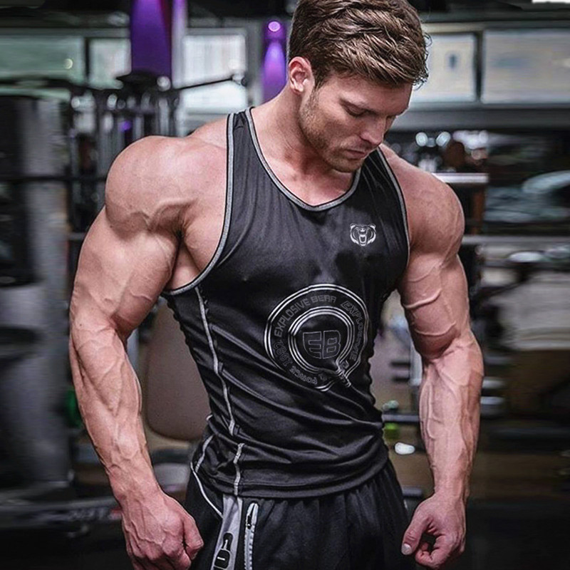 2019 Male Summer New gyms Fitness Mens Tank Tops fashion Bodybuilding mens Cotton clothing sleeveless shirts joggers Vest mens