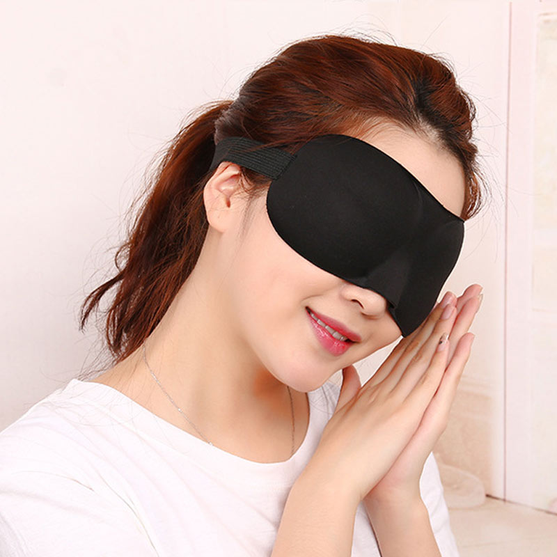 Newly Sleep Blackout Goggles 3D Eye-Patch Fatigue Mitigation Breathable Nerves Cool Goggles DOD886