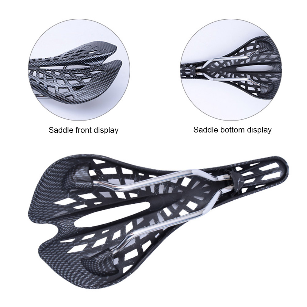 NEW Inbuilt Saddle Suspension Bike Seat Cushion Comfortable Durable Saddle Ultra-low Weight Bicycle Supplies Spider Carbon Fiber