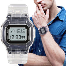 Мужские акриловые часы светодиодные цифровые спортивные мужские