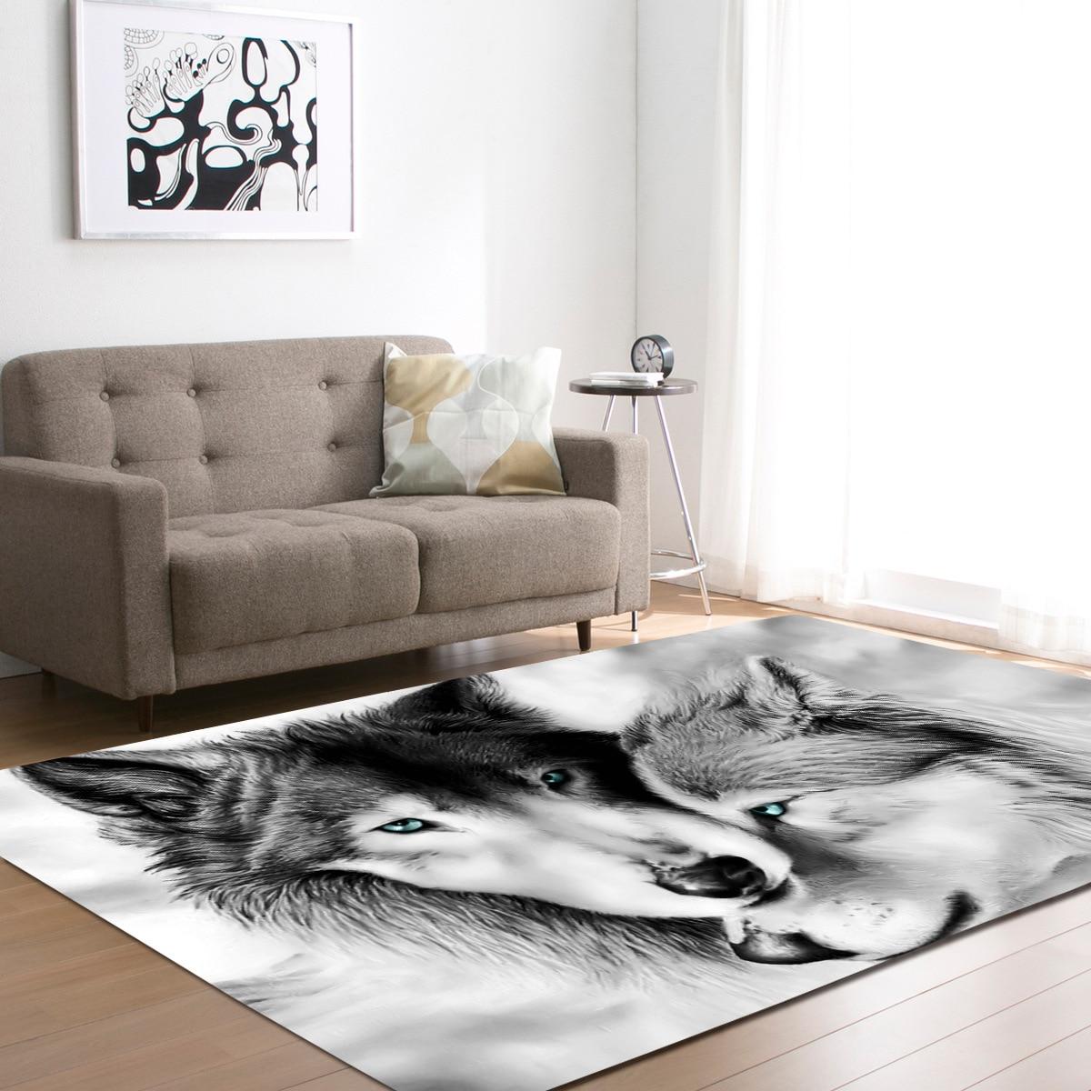 T Wolf imprimer tapis enfants chambre zone tapis pour chambre 3D tapis salon doux tapis de sol mécanique lavage couverture chambre tapis