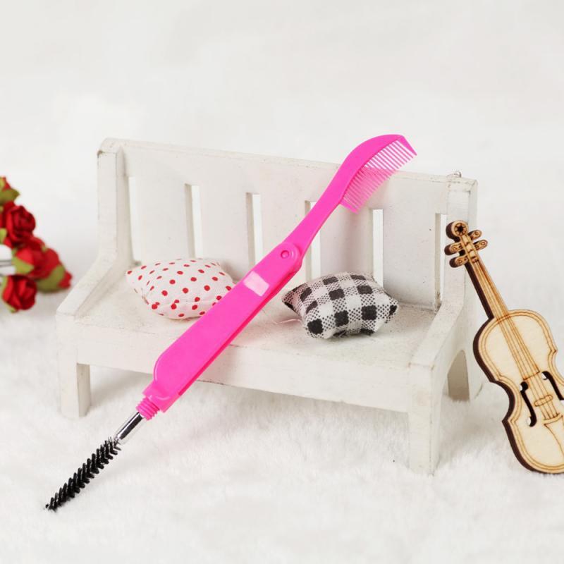 Профессиональная щетка для ресниц с двойной головкой расческа для ресниц с кисточкой для бровей Тушь для ресниц сепаратор для ресниц инстр...