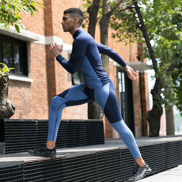 IEMUH Thermal Casual Pants Men Brand Compression Tights Skinny Leggings Men Fashion Elastic Fitness Male Trousers 44