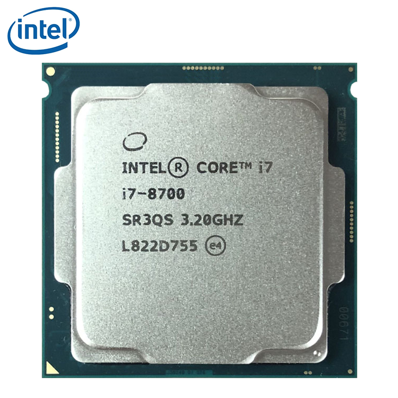 Intel Core i7-8700 i7 8700 3.2 GHz Six-Core Twelve-Thread CPU Processor 12M 65W LGA 1151 image