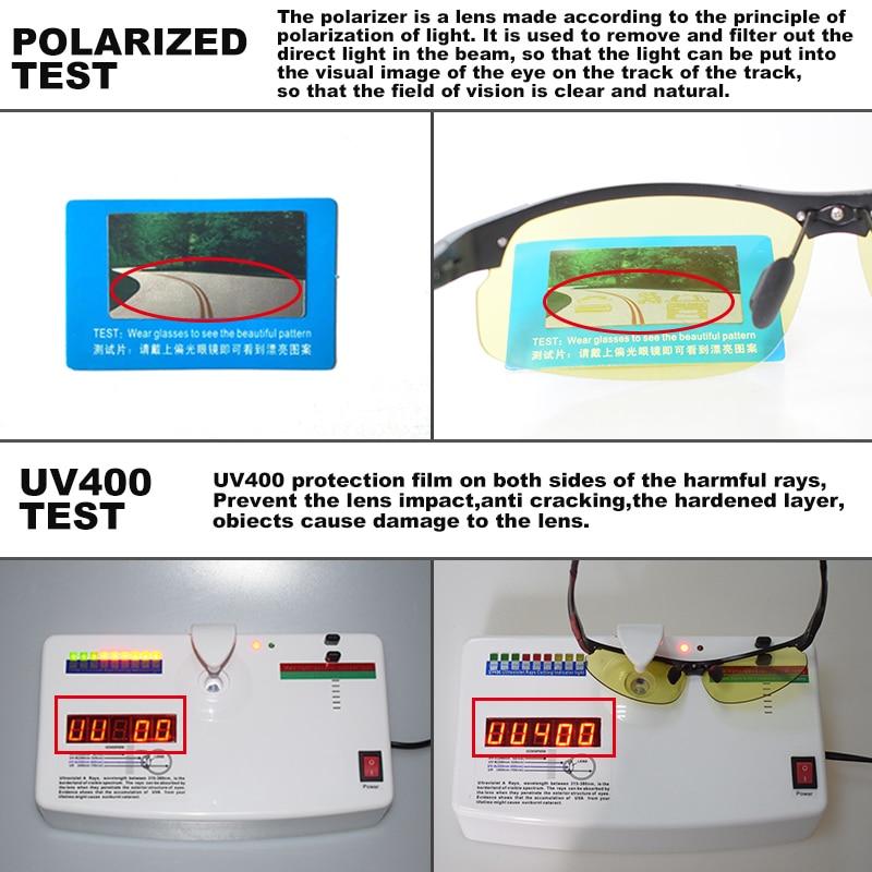 Aluminum Magnesium Photochromic Polarized Sunglasses Men Driving Glasses Day Night Vision Driver Goggles Oculos De Sol Masculino 3