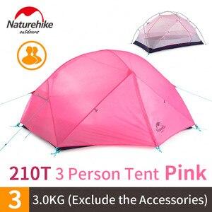 Image 4 - Naturehike في 2020 جديد Mongar 15D خفيفة التخييم خيمة 2 الأشخاص النايلون طبقة مزدوجة للماء في الهواء الطلق المحمولة تسلق الخيام
