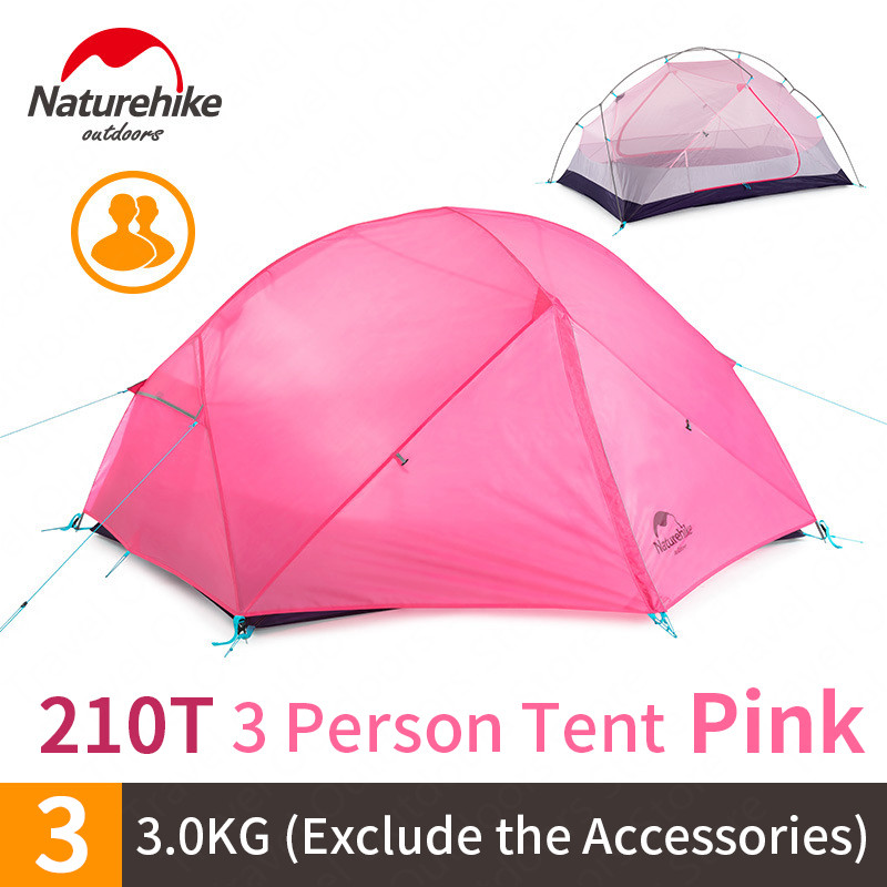 Image 4 - Naturehike 2020 nowy Mongar 15D Ultralight Camping namiot 2 osób Nylon dwuwarstwowa wodoodporna odkryty przenośne namioty wspinaczkoweNamioty   -