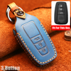 New cow Leather Car key cover 3 Button keyless Case For Toyota Camry CHR Prius Corolla RAV4 Prado 2017 2018 2019 keychain House review