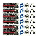 1/6 шт. новые Ver009 Usb 3,0 Pci-E Ver 009S Экспресс 1X 4X 8X 16X расширитель Riser карта адаптера Sata 15Pin до 6 Pin Мощность кабель