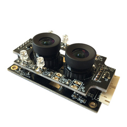 2MP USB Camera Module Board 96° 1080P OV2710 CMOS Sensor Double Lens Anti-Backlight for Internet/Industrial Equipment