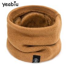 YEABIU, модный зимний теплый шарф унисекс, шаль-кольцо, шарф, мягкий плотный вязаный хлопковый шарф-хомут для мальчиков и девочек