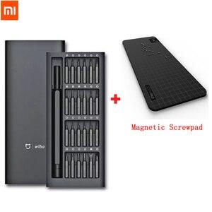 Image 1 - Hot Originele Xiaomi Mijia Wiha Dagelijks Gebruik Schroevendraaier Kit 24 In 1 Precisie Magnetische Bits Doos Diy Schroevendraaier Set voor Smart Home