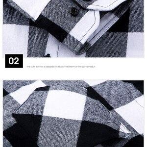 Image 4 - AOLIWEN แฟชั่นผู้ชายแขนยาวลายสก๊อตผ้าฝ้าย 100% สบาย Multi สีฤดูร้อนใหม่ผู้ชายแฟชั่นเสื้อต่ำราคา M 5XL