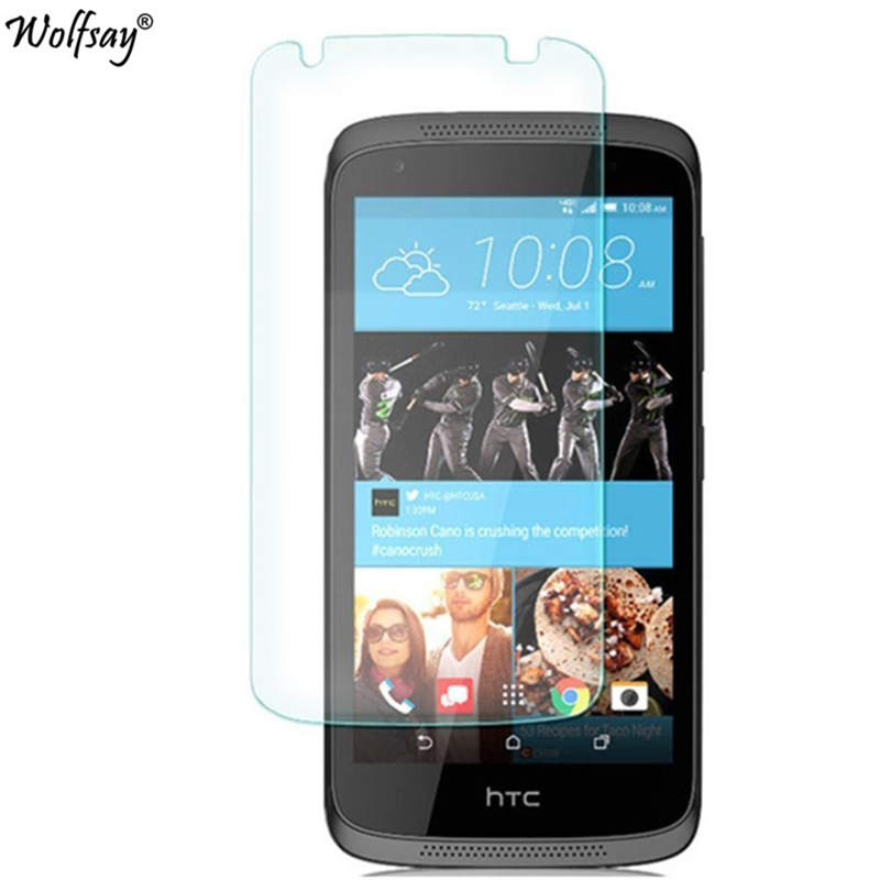 2pcs For Glass HTC Desire 526G Tempered Glass For HTC Desire 526G Screen Protector For HTC 526 Protective Film 326 326G Wolfsay-in Phone Screen Protectors from Cellphones & Telecommunications