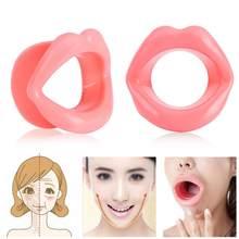 Gumy silikonowej twarzy szczuplejsze Oral usta narzędzia do masażu mięśni napinacz Exerciser Lip Trainer przeciwzmarszczkowe narzędzie do pielęgnacji twarzy