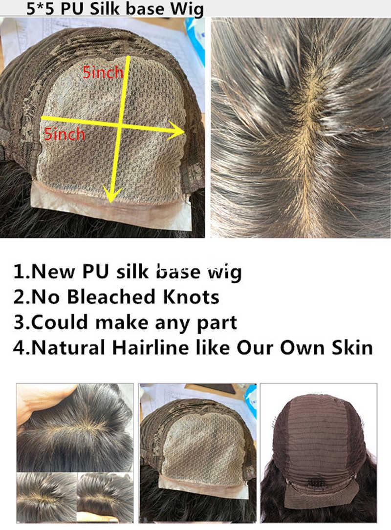 Оранжевый цвет 5*5 искусственная шелковая основа кружева фронта человеческих волос парик естественная волна воды длинные 32 дюйма шелковые верхние волосы части Remy волосы парики