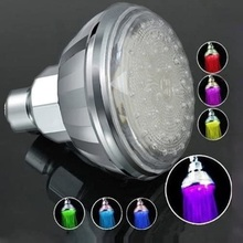 Shower head Romantic Automatic 7 Color LED Shower Head Facut Home Bathroom, LED Light Accessories Home Decorations Gifts ouneed 35 24mm romantic 7 color change led light shower head water bath home bathroom glow happy gifts high quality abs