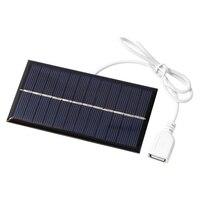 Panel Solar portátil de 1W y 6V, Mini Sistema Solar artesanal para teléfono, Banco de energía, ventilador, cargadores de celdas de batería, pequeño sistema solar