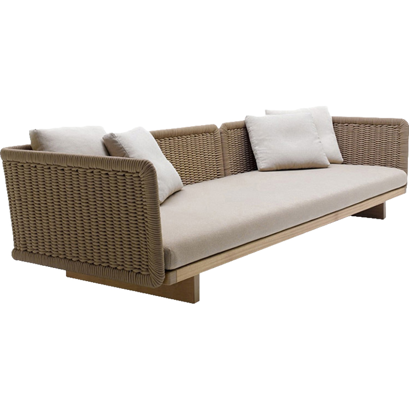 Luxury garden sets porch rope outdoor sofa sets sectional furniture sale