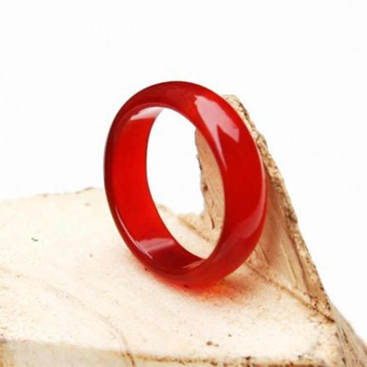 ผู้หญิงที่ยอดเยี่ยมผู้ชาย lovers100 % ธรรมชาติหยกสีเขียวอัญมณีแหวน Lucky RingsJewelry จัดส่งฟรีคริสตัลจี้เชือก forfree