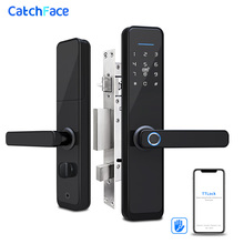 Biometric Fingerprint Door Lock  Bluetooth Smart Electronic Lock  APP Code RFID Keyless Lock Alexa/Google Home/Smart Life APP biometric electronic smart door lock fingerprint keyless code lock smart with 4 cards 2 mechanical keys for entry office home