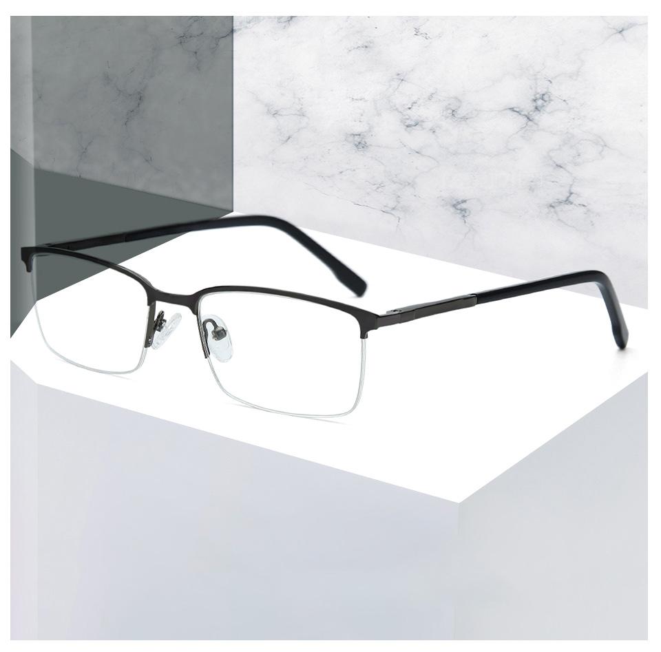 2021 BLUEMOKY Alloy Semi Rimless Glasses Frame For Men Myopia EyeGlasses  Clear Optical Glasses Eyewear Mens Eyewear Frames 2019 From Byuild, $14.8 |  DHgate.Com