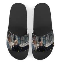 Modèle personnalisé Anime fantôme couteau hommes en cuir pantoufles maison chaussures hommes Confortable en caoutchouc pantoufles sandales Zapatos De Hombre