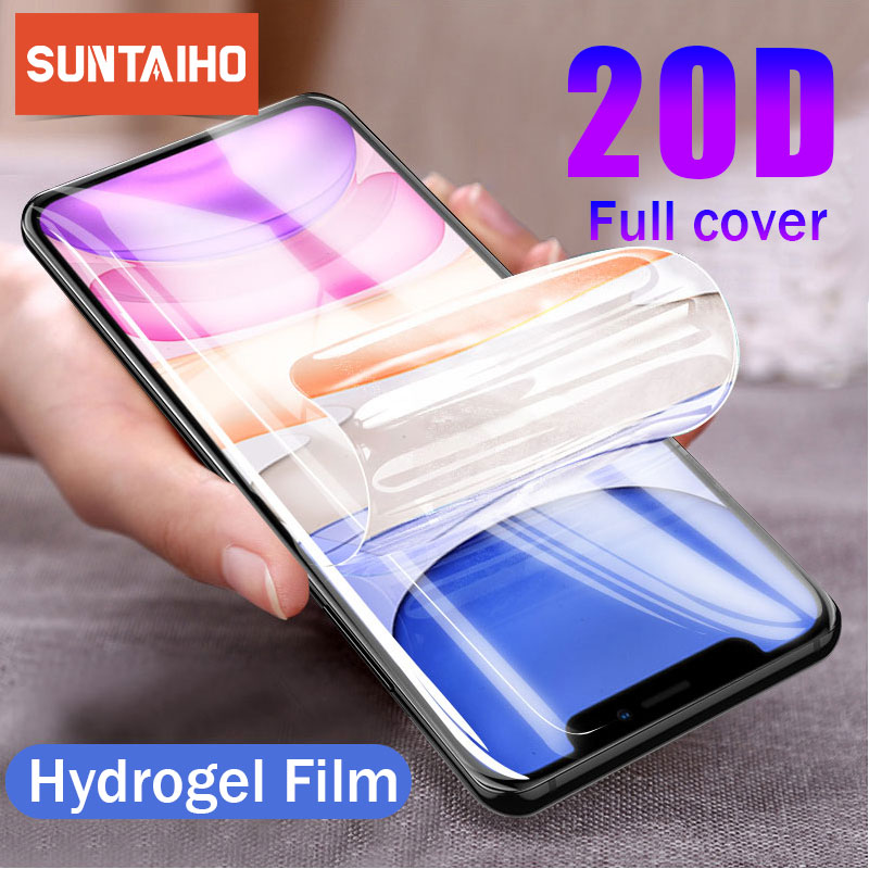 Suntaiho 20D Hydrogel <font><b>Film</b></font> For <font><b>iPhone</b></font> 7 6 6s 8 Plus 7 8 Screen Protector <font><b>iPhone</b></font> <font><b>X</b></font> <font><b>XS</b></font> XR <font><b>XS</b></font> Max 11 Pro Max Soft Protective <font><b>Film</b></font> image