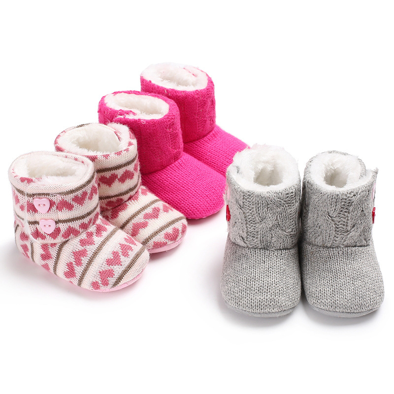 High-quality Soft Sole Skid-proof Warm Winter Infant Snowfield Boots Baby Bed Shoes Baby Fluffy Snowfield Boots Soft Sole Skid-p