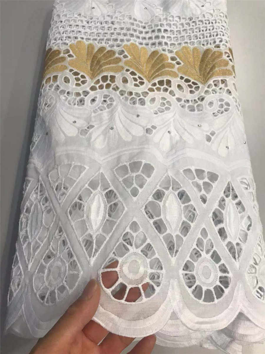 Di alta qualità merletto svizzero del voile in svizzera dubai tessuto tissu di vendita calda del cotone africano del merletto a secco tessuto broccato tessuto 5 metri