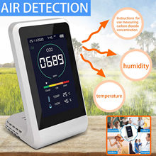 Co2 Meter Digitale Temperatur Feuchtigkeit Sensor Tester Air Qualität Monitor Kohlendioxid Tvoc Formaldehyd Hcho Detektor #3